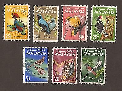 Malaysia. 1965 Scott 20-26 (used) Birds. Short set. What you see is what you get