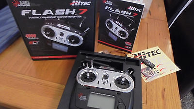 hitec flash 7 radio control computer system with optima 7 rx afhss 2.4ghz