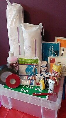 Equine First Aid Kit Naturalintex, Animalintex, Hydrogel, cohesive bandage etc.