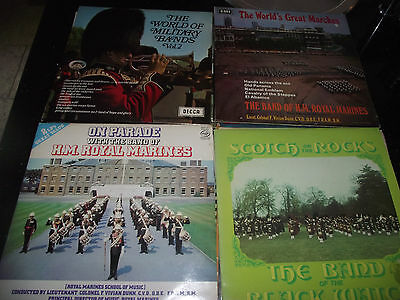 84 LP MILITARY BRASS BAND Record Collection SOME HARD TO FIND