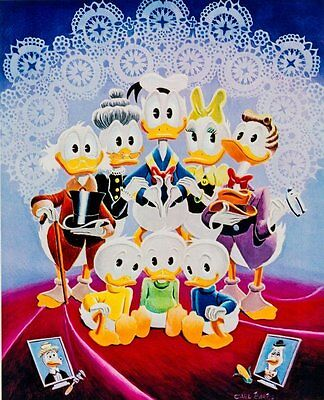 Carl Barks Art - Donald Duck - Lavender And Old Lace #24/100 Gold Plate Edition