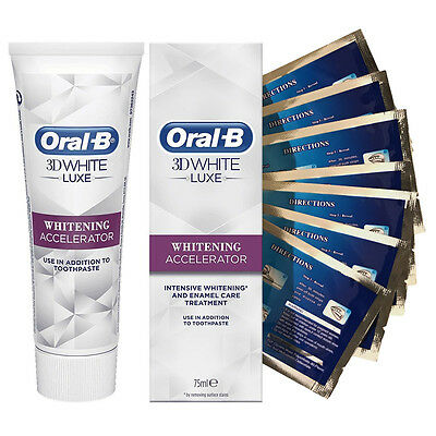 28 Teeth Whitening White Strips + Oral B 3D White Whitening Accelerator