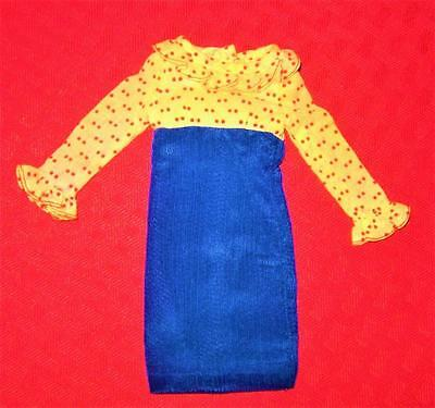 Vintage Barbie For 1256  Francie Concert In The Park Clothes Blue  Ruffled Dress