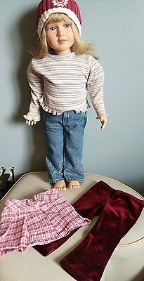 My Twinn Doll 23 Inch Posable With Outfit + Extras Blonde Lavender Eyes
