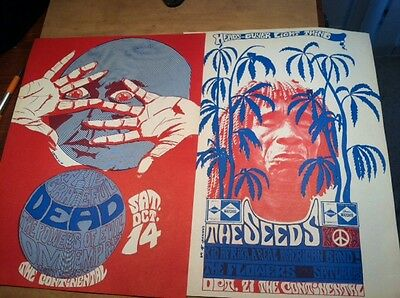 Orig. Grateful Dead 1967 Litho Rare Cannon Posters Continental S.f. Rock Era 1St