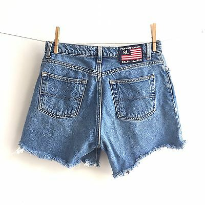 Vintage 90's Polo Jeans RL Ralph Lauren High Waist Jean Shorts Wedgie Cutoffs 6
