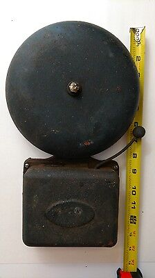Vintage FARADAY ALARM BELL NO.3 Works Fire Boxing Alarm gong Antique Old