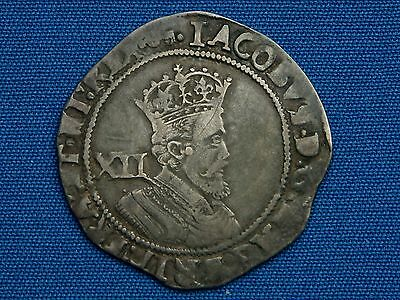 James I Shilling - 2nd coinage - 5th bust - mm key