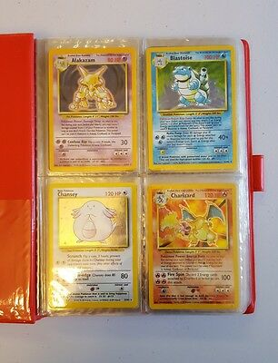 Pokemon Complete Base Set All 102 Cards Includes Shadowless And First Editions