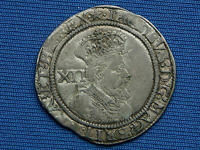 James I Shilling - 2nd coinage - 5th bust - mm mullet - Scarce