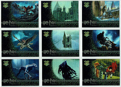 Harry Potter Prisoner of Azkaban Foil Puzzle 9 Card Chase Insert Set R1 to R9