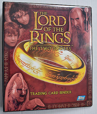 Lord of the Rings The Two Towers Official Trading Card Binder Album Topps
