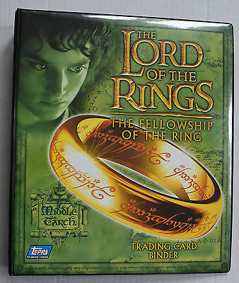 Lord of the Rings Fellowship of the Ring FOTR Official Trading Card Binder Topps