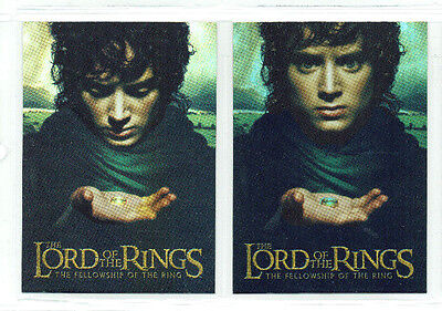 Lord of the Rings Fellowship of the Ring Bonus Foil Box Topper Chase 2 Card Set