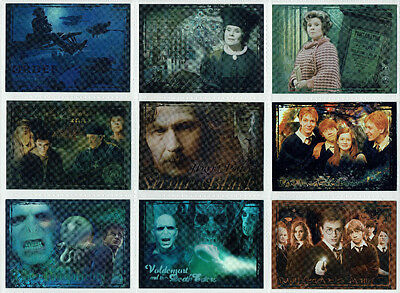 Harry Potter Order of the Phoenix Update Foil Puzzle 9 Card Chase Set R1 to R9