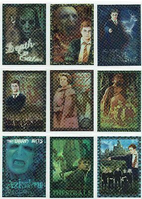 Harry Potter Order of the Phoenix Foil Puzzle 9 Card Chase Insert Set R1 to R9