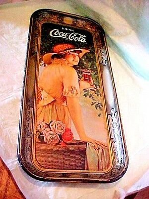 "Vintage Coca-Cola Tray Usa 1972 Triangle Approx 18 7/8"" L X 8 3/4"" W 25 Year Old"