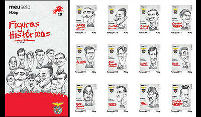 Portugal 2016 - Historical Figures from Benfica Football Club stamp booklet mnh
