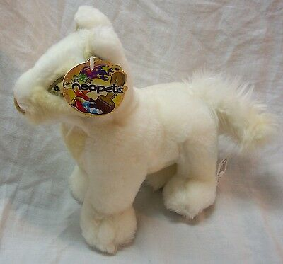"""Neopets 2004 WHITE LUPE 7"""" Plush STUFFED ANIMAL Toy NEW w/ TAG"""