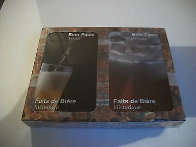 Brand New Sealed- 2- Decks Playing Cards- Beer Trivia And Facts.