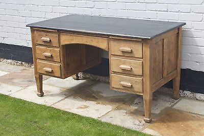 Antique Solid Oak Desk
