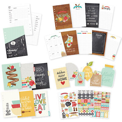 Simple Stories CDR8909 Carpe Diem Recipe A5 Planner Inserts-
