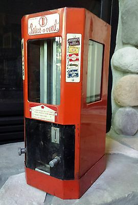 VTG Select O Vend 1 Cent Coin Operated Candy Gum Machine Circa 1945 Drugstore