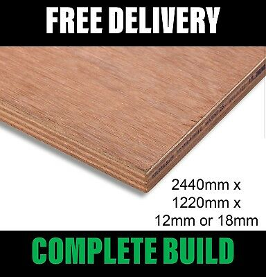 Marine Plywood 2440mm x 1220mm Grade BS1088 18mm & 12mm