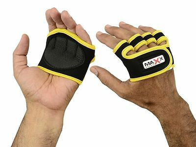 Maxx Gel Weight Lifting Grips Pad Training Gym Straps Gloves Hand Wrist Support