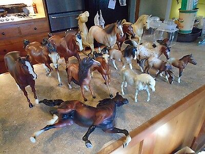Large Lot 18 assorted Vintage Breyer Horses
