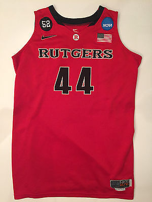 NIKE ELITE Rutgers Scarlet Knights Game Worn Basketball Jersey #44 2010-2011