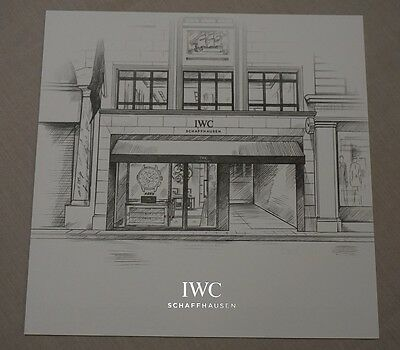 IWC Watch New Bond Street London Boutique Thick Card Flyer Invite Illustration