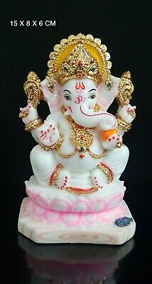 Ganesha Ganpati Ganesh Om Lord Hindu God Antique Colorful Idol Statue New