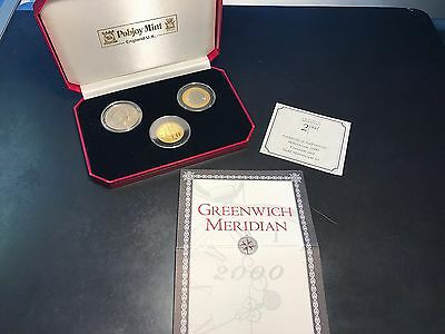 Gibraltar & Isle of Man Millenium 2000 Titanium and Gold 3-Coin  Set