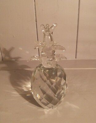 Crystal Cut Glass Pineapple Ornament