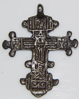 Tear Drops of Christ Cross Unusual Medieval Byzantine Orthodox Crucifix or Blood