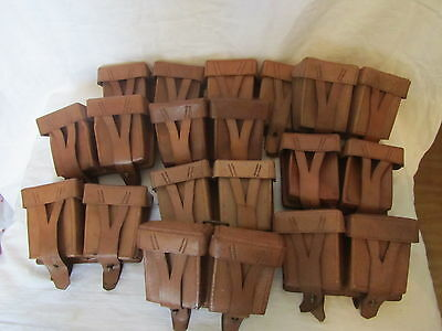 lot 10 ussr soviet army mosin-nagant leather ammo pouch 1950 s