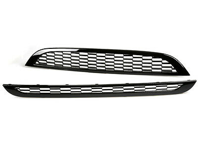 Gloss black front grille set for BMW Mini cooper S R52 R53 1st generation