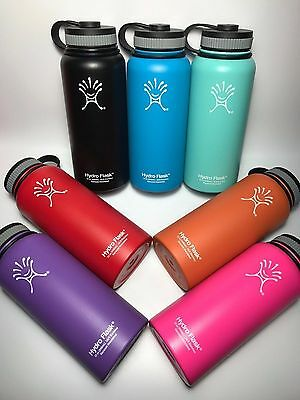 32oz/40oz Hydro Flask Insulated Stainless Steel Water Bottle Wide Mouth