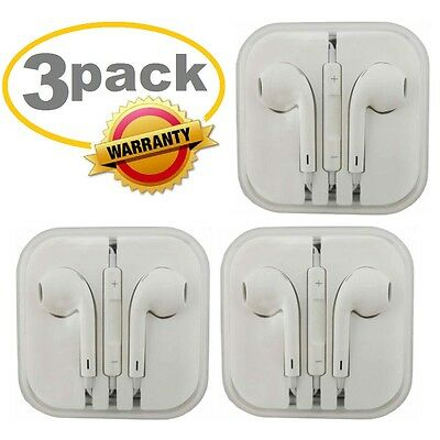 3Pack Generic for Apple IPhone Headset-Earphones-Earbuds-Headphones With Microph