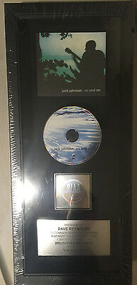 Jack Johnson On and On Record Label Platinum Plaque Award