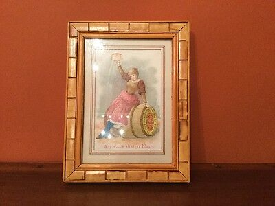Orig. Antique Victorian Washburn Crosby Co's Flour Trade Card - Matted & Framed