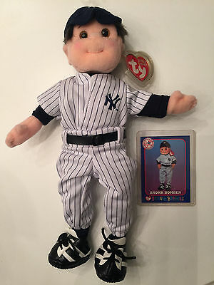 NY New York Yankees TY Beanie Boppers Bronx Bomber with Card 8/5/01