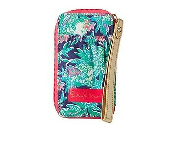 NEW Lilly Pulitzer Carded ID SmartPhone Wristlet Bright Navy Trunk Show Small Ac