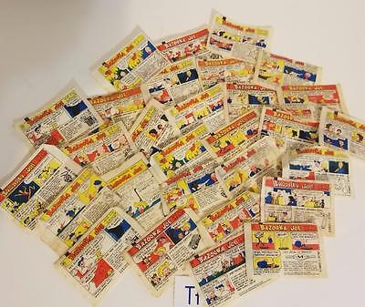 25 Bazooka Joe Comic strip bubble gum wrappers vintage ephemera advertising