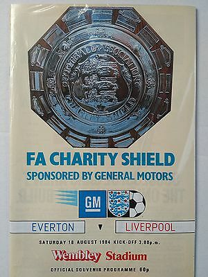 1984 Charity Shield Everton v Liverpool Mint condition.