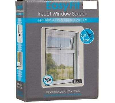NEW Easy Insect Fly Mosquitoes Bug Door Window Net Mesh Screen Protector Sticky