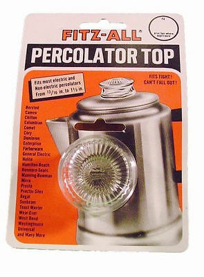 NEW Fitz-All Replacement Percolator Top Glass Model #135