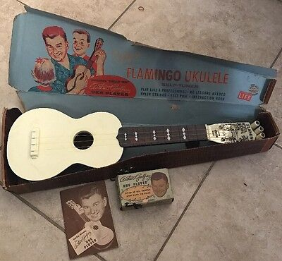 Vintage Emenee 1950 Arthur Godfrey Flamingo Ukulele IN BOX Musical Instrument