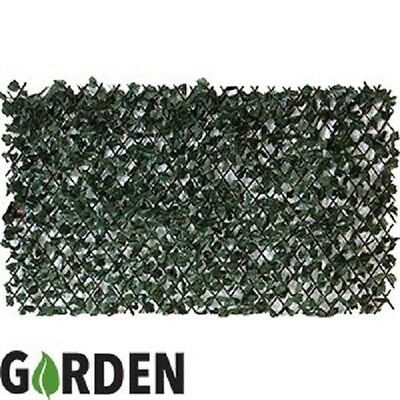 Artificial Ivy Screening on Willow Trellis 2 x 1 m Fence Hedge Maple Leaf Expand